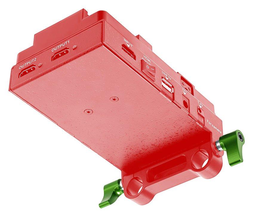 Lanparte VBP-01 Spannungswandler mit Ersatzschrauben.
