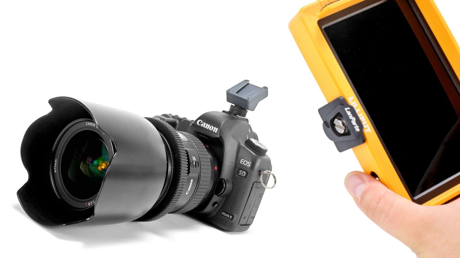 Anti-Twist Funktion der Schnellwechselplatte verhindert verdrehen des Monitores.