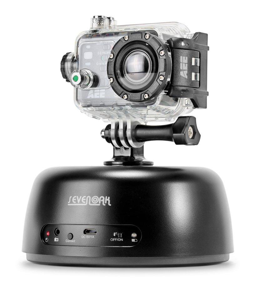 Der Panoramakopf lässt sich mit Actionkameras nutzen.
