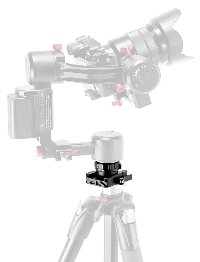 CAME-TV Gimbal montiert auf einem Fotostativ.