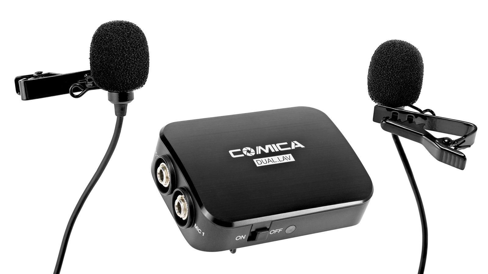 Commlite Comica CVM-D03 Dual Stereo Lavalier Mikrofone (4.5m Kabellänge).