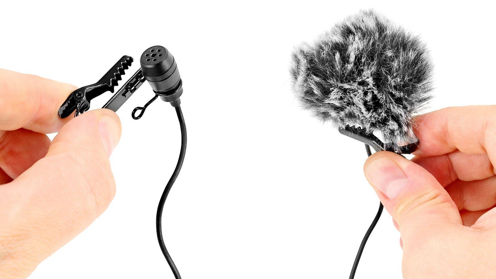 Für beide Mikrofone werden Windschützer aus Kunstfell mitgeliefert.