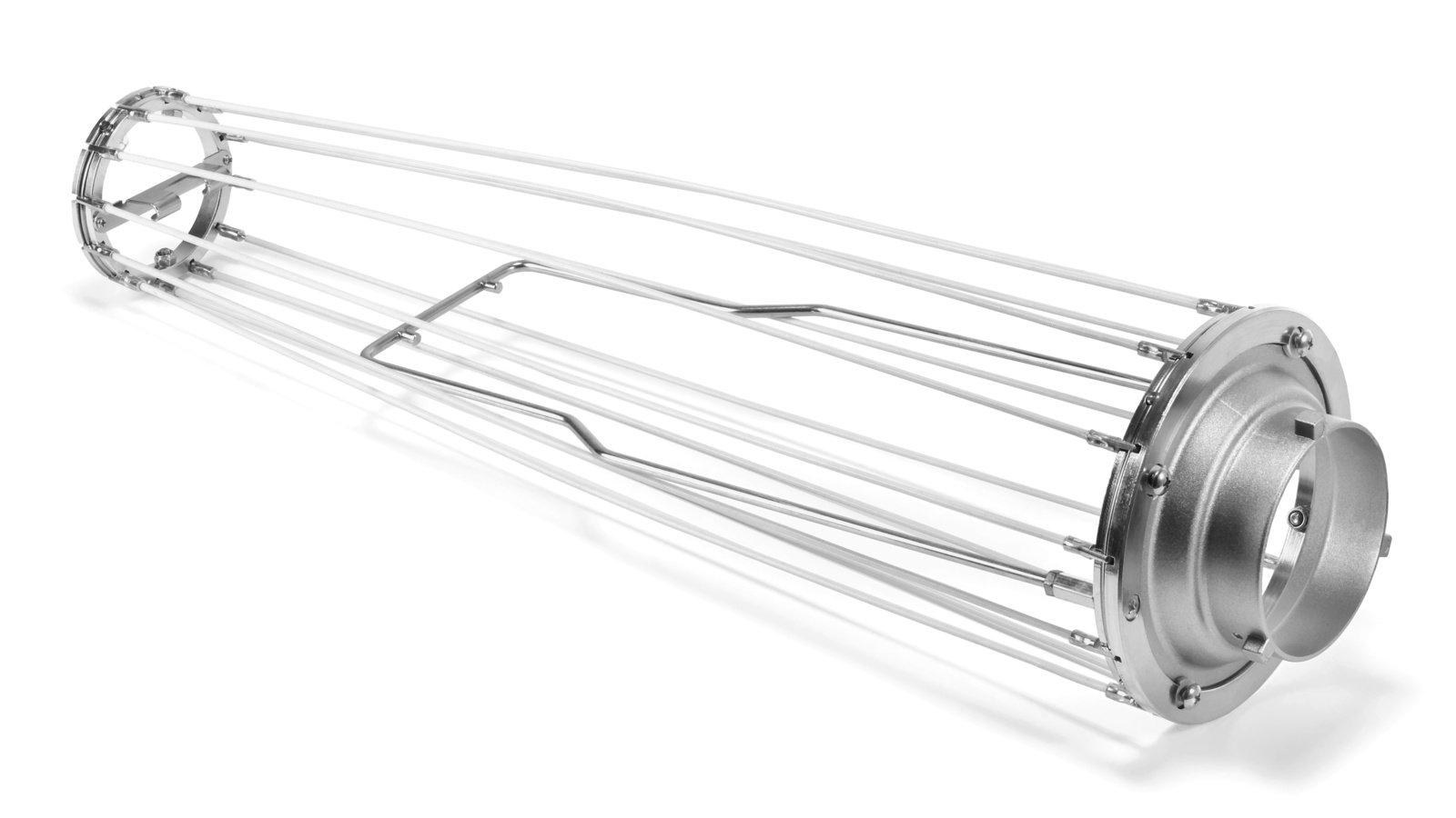 Das Gerüst der SOFTBOX-50 lässt sich zu einer Kugel spannen.