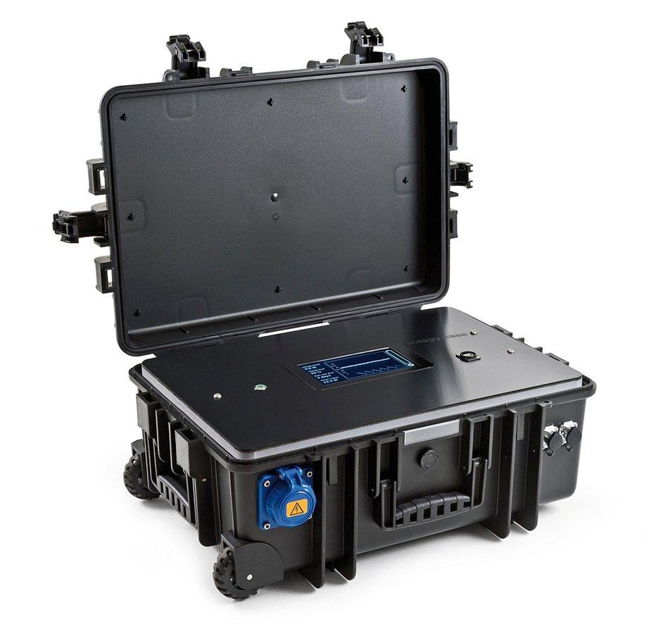 B&W type 6700/B/energy Trolley Koffer mit eingebautem 1200Wh Akku.