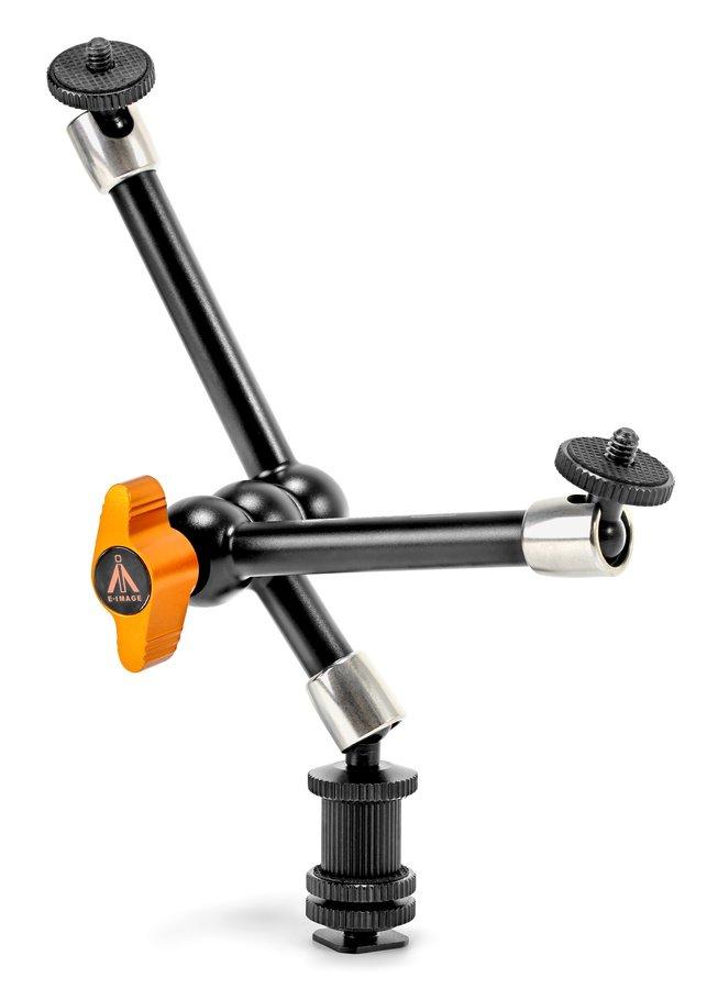 E-IMAGE EI-A73 Doppelter Zubehör Gelenkarm / Magic Arm für Kamera (18cm).