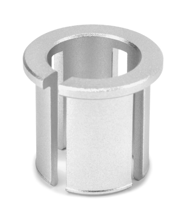 Die Reduzierhülse besteht aus Aluminium.