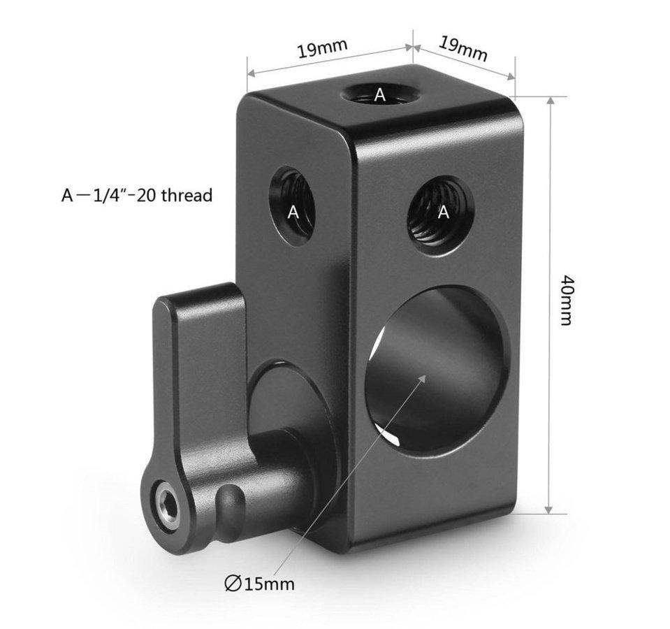SmallRig 843 15mm Rod Adapter mit mehreren 1/4 Zoll Gewinde Foto Nr. 4