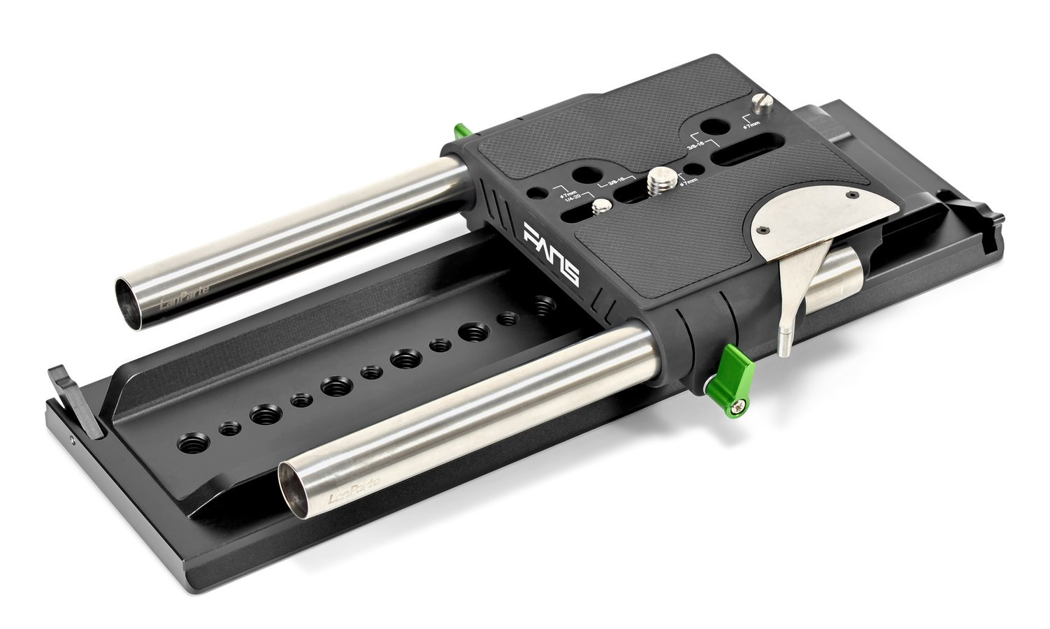 SmallRig 1463 Dovetail Stativplatte mit Lanparte BP19 19mm Baseplate.