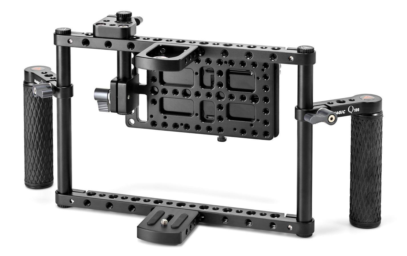 E-IMAGE Q100 flexibler Cage mit Akkuhalterung für Monitore bis 156mm.
