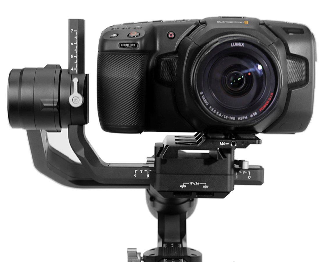 DJI Ronin S Gimbal mit BMPCC 4K Kamera.