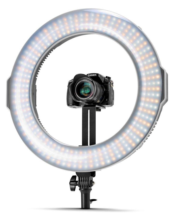 ROKO RL-4500C Bicolor LED Ringleuchte mit Kamerahalterung und Memory Funktion.