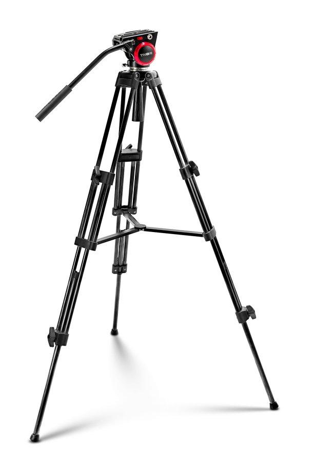 THOR Video DVK-6803A Aluminium Videostativ mit Fluidkopf (69-151cm).