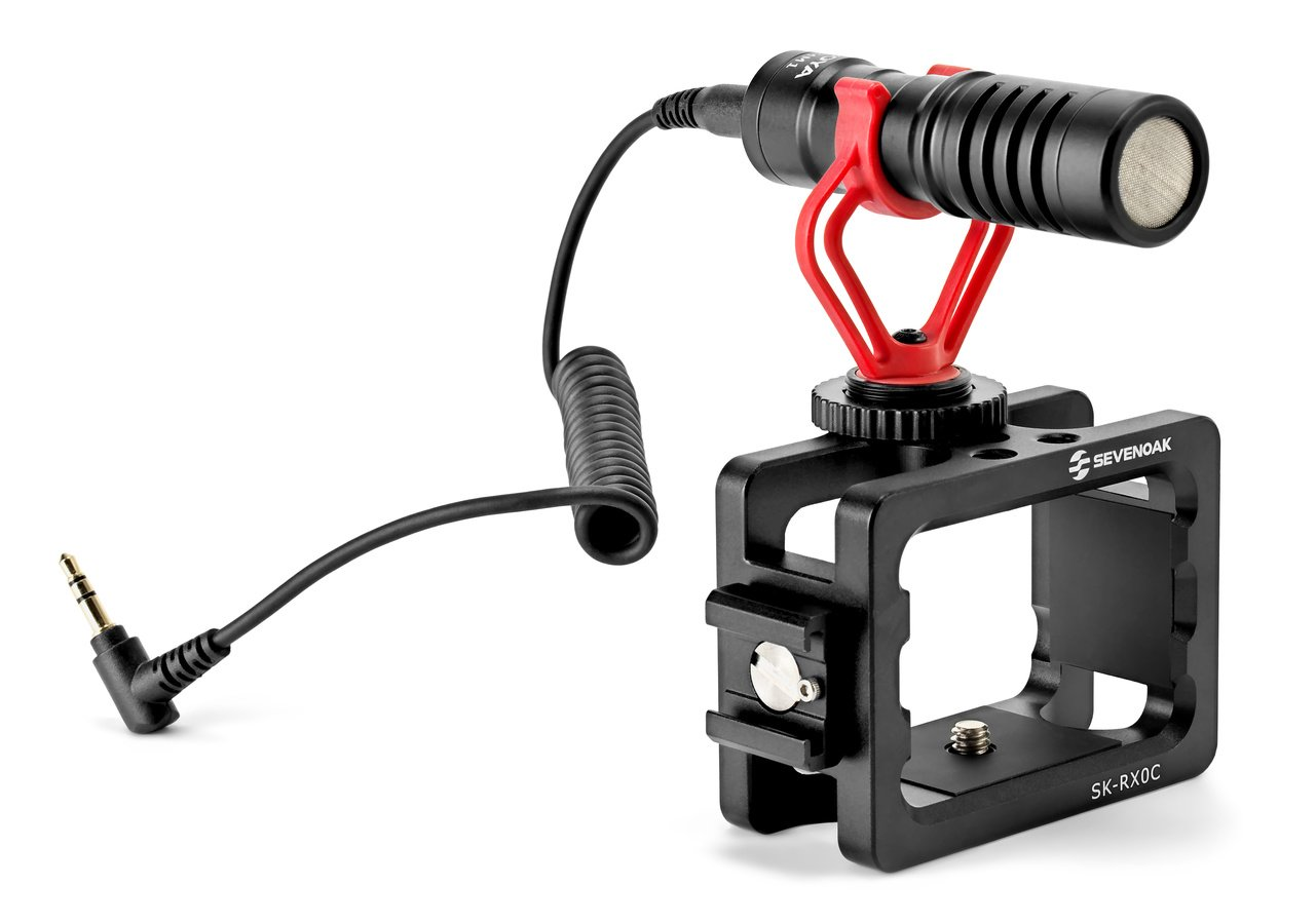 Cage für RX0 mit Mikrofon von SevenOak.