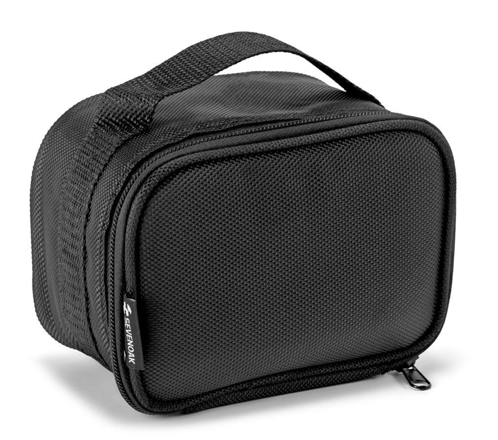 Ebenfalls mitgeliefert wird eine Transporttasche aus Nylon.