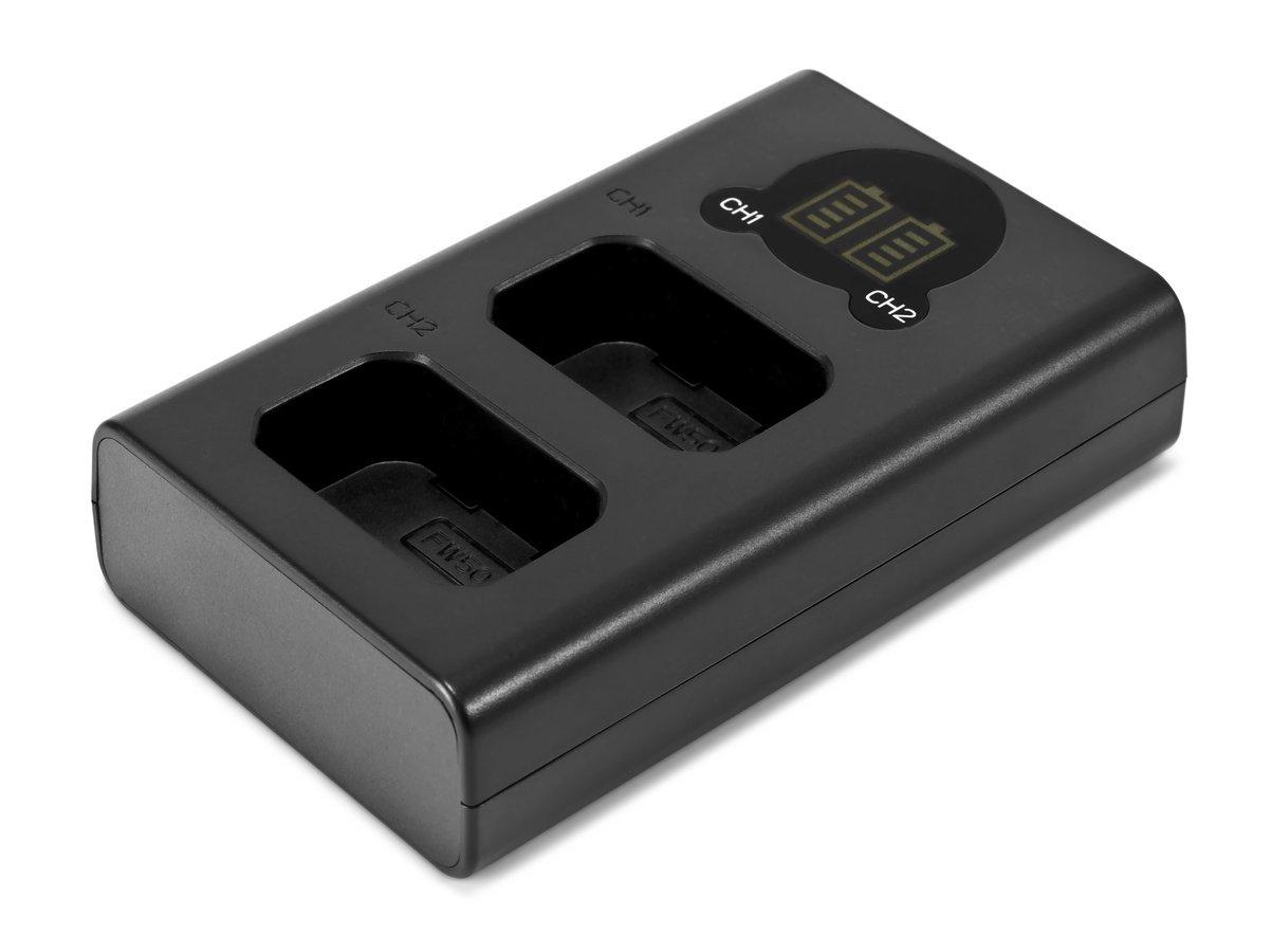 ROKO TCU2-NPFW Doppel-Ladegerät mit USB für Sony NP-FW50 Akkus.