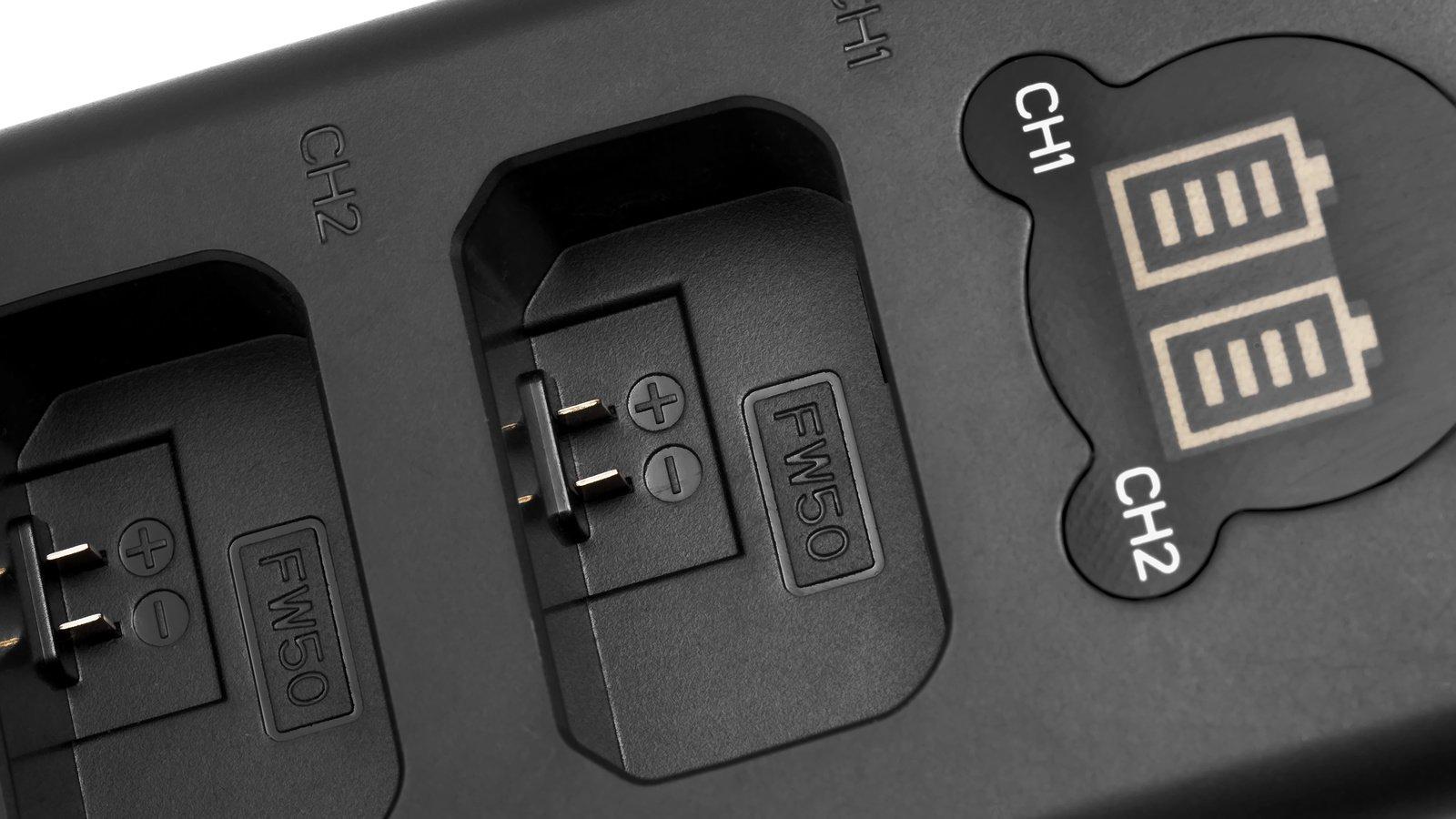 ROKO TCU2-NPFW Doppel-Ladegerät mit USB für Sony NP-FW50 Akkus Foto Nr. 1