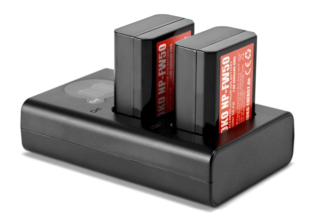 ROKO TCU2-NPFW Doppel-Ladegerät mit USB für Sony NP-FW50 Akkus Foto Nr. 3