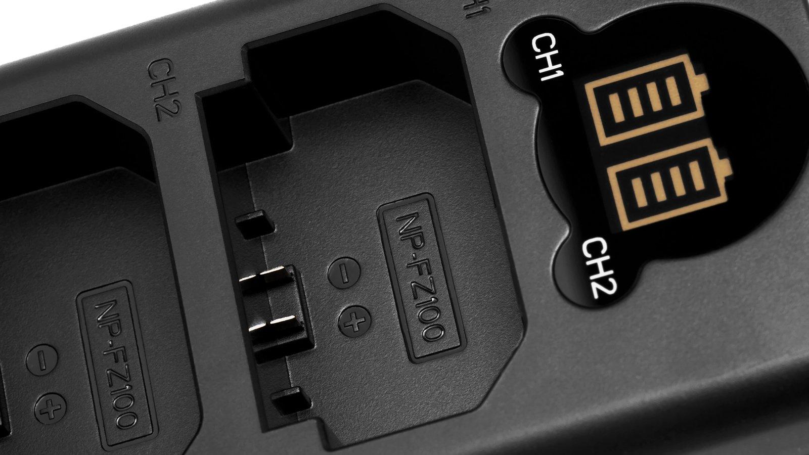 ROKO TCU2-NPFZ Doppel-Ladegerät mit USB für Sony NP-FZ100 Akkus Foto Nr. 1