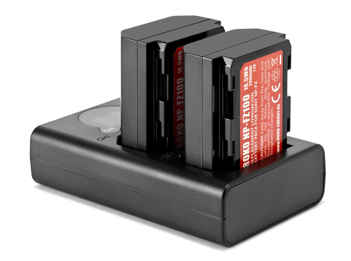 ROKO TCU2-NPFZ Doppel-Ladegerät mit USB für Sony NP-FZ100 Akkus Foto Nr. 3