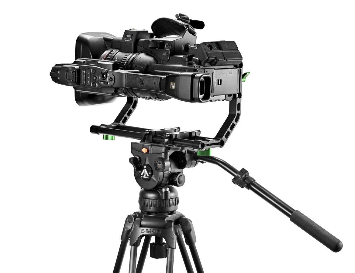 Canon XF305 Camcorder um 90 Grad gedreht.