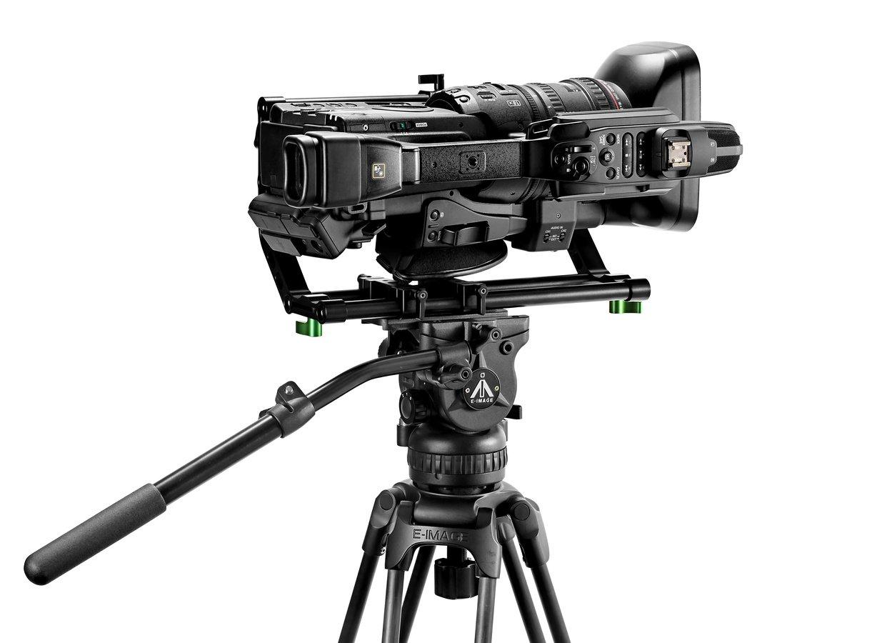 Das Vertical Video Rig eignet sich universell für Filmkameras und Camcorder.