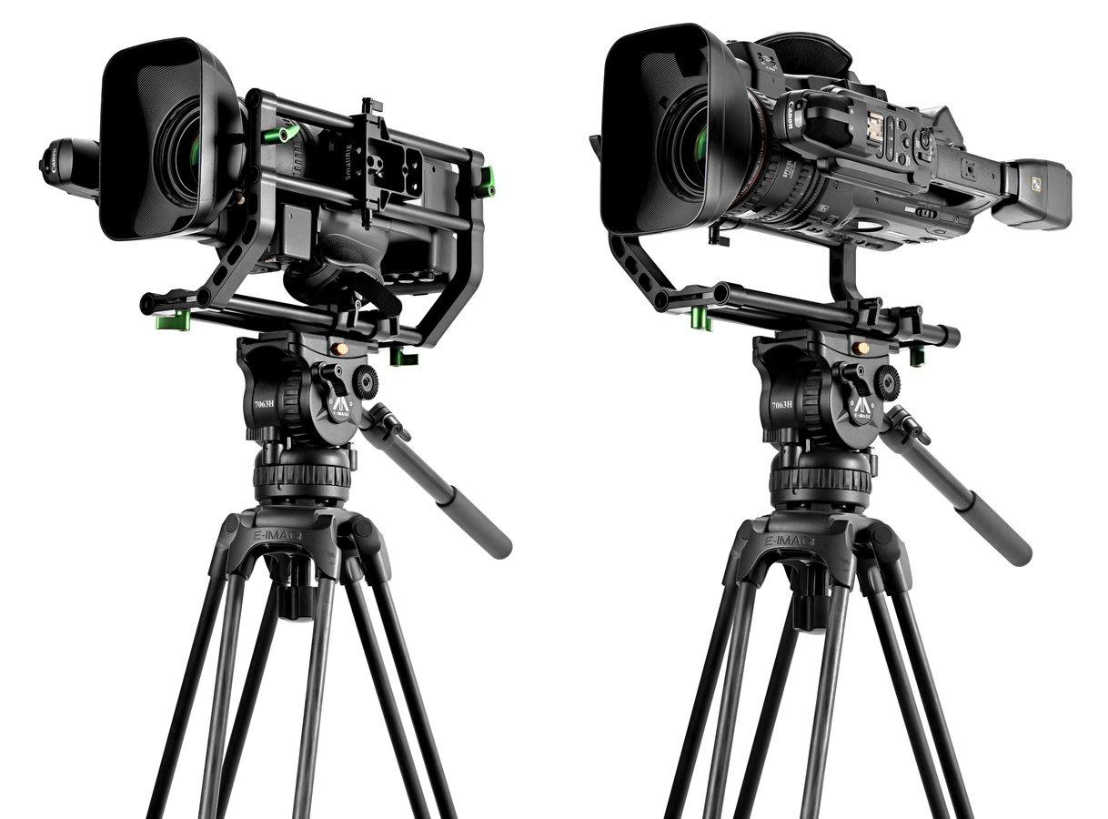 Die Kamera kann links- oder rechtsseitig montiert werden.