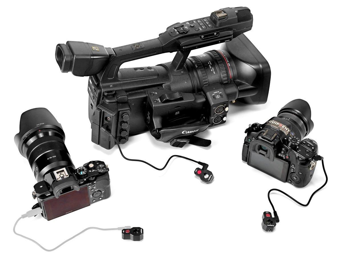 Die Fernbedienung funktioniert mit vielen verschiedenen Kameras.