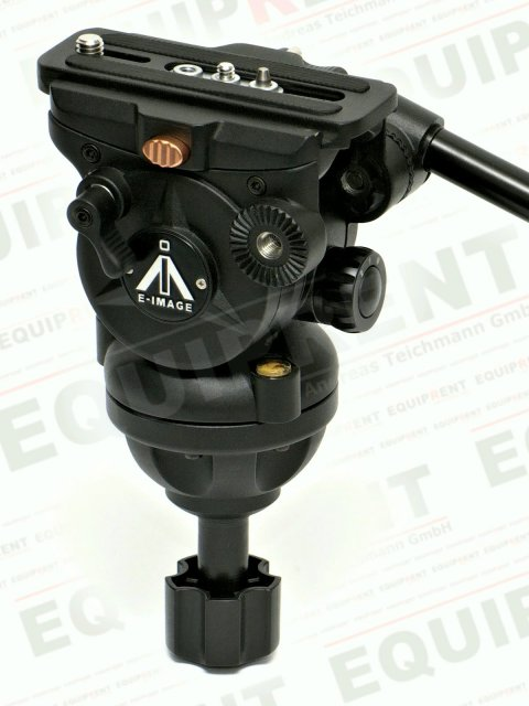 E-IMAGE 7060H: Stativkopf / Fluiddämpfung / 75mm Halbschale (black).