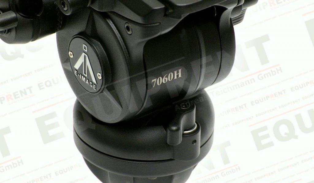 E-IMAGE 7060H: Stativkopf / Fluiddämpfung / 75mm Halbschale (black) Foto Nr. 4
