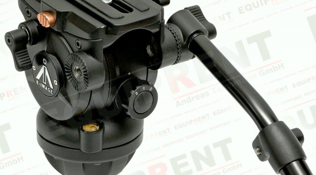E-IMAGE 7060H: Stativkopf / Fluiddämpfung / 75mm Halbschale (black) Foto Nr. 5