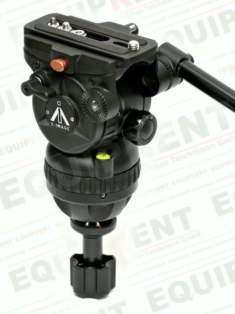 E-IMAGE 7063H: Stativkopf / Fluiddämpfung / 75mm Halbschale (black).