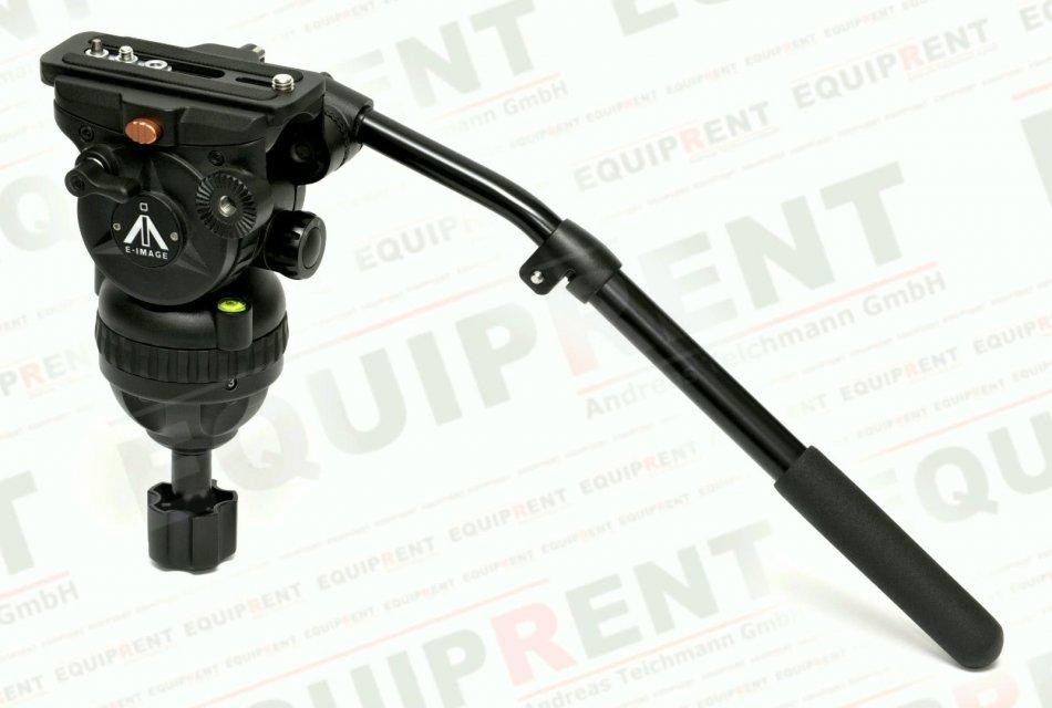 E-IMAGE 7063H: Stativkopf / Fluiddämpfung / 75mm Halbschale (black) Foto Nr. 2