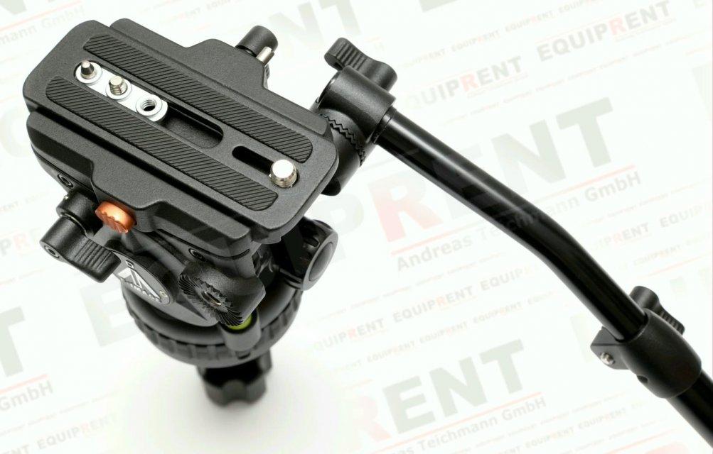 E-IMAGE 7063H: Stativkopf / Fluiddämpfung / 75mm Halbschale (black) Foto Nr. 4