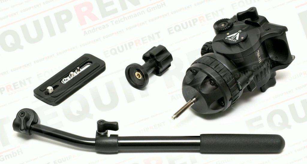 E-IMAGE 7063H: Stativkopf / Fluiddämpfung / 75mm Halbschale (black) Foto Nr. 7