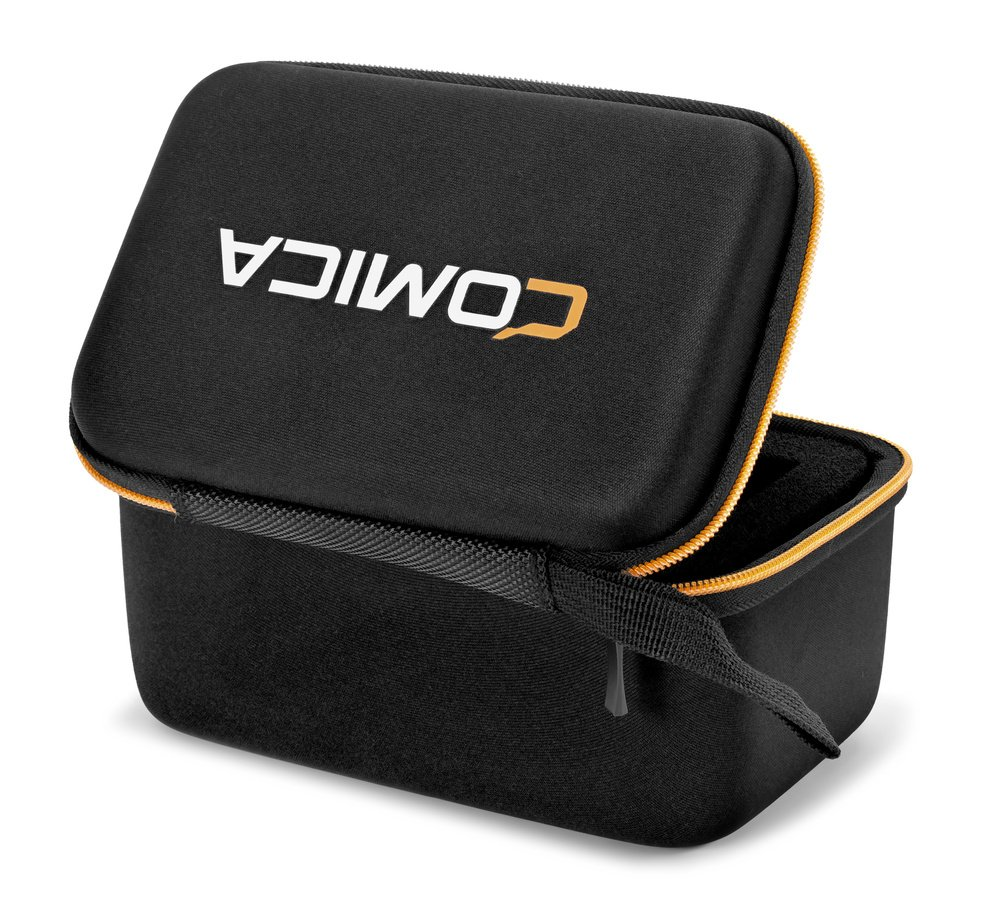 Das Mikrofon wird inklusive Zubehör in einem kleinen Koffer aus Nylon geliefert.