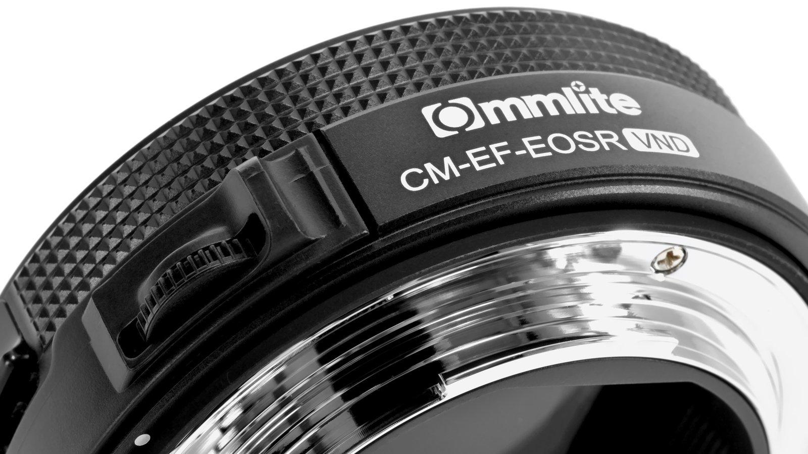 Commlite CM-EF-EOSR VND Canon EF zu EOS R Objektivadapter mit VARI ND Filter Foto Nr. 3
