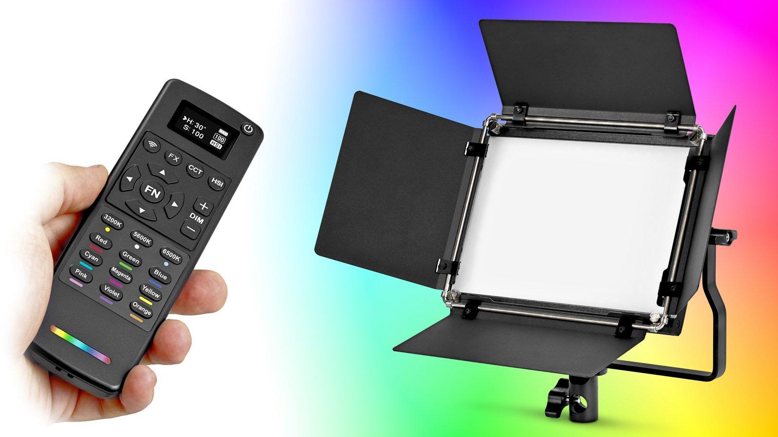 ROKO LED-648RGB LED Leuchte mit einstellbarer Lichtfarbe nach HSI.