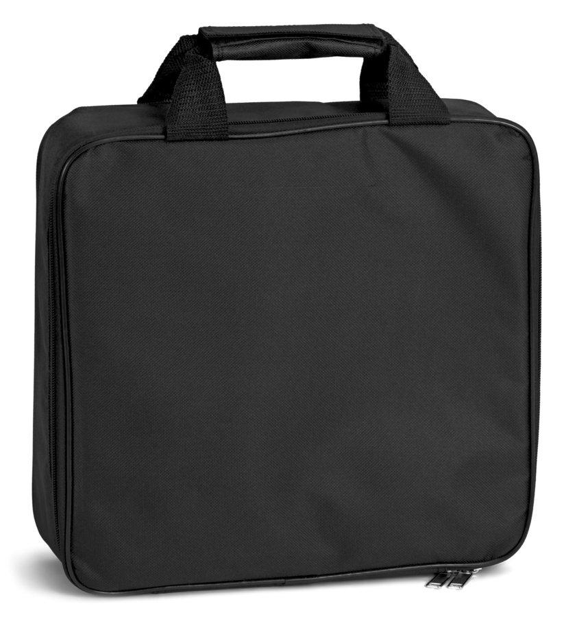 Eine Tasche aus Nylon gehört zum Lieferumfang.