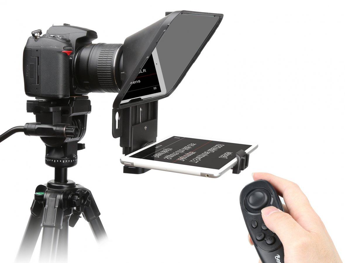 Desview T3 Teleprompter für Kamera, Tablet oder Smartphone.
