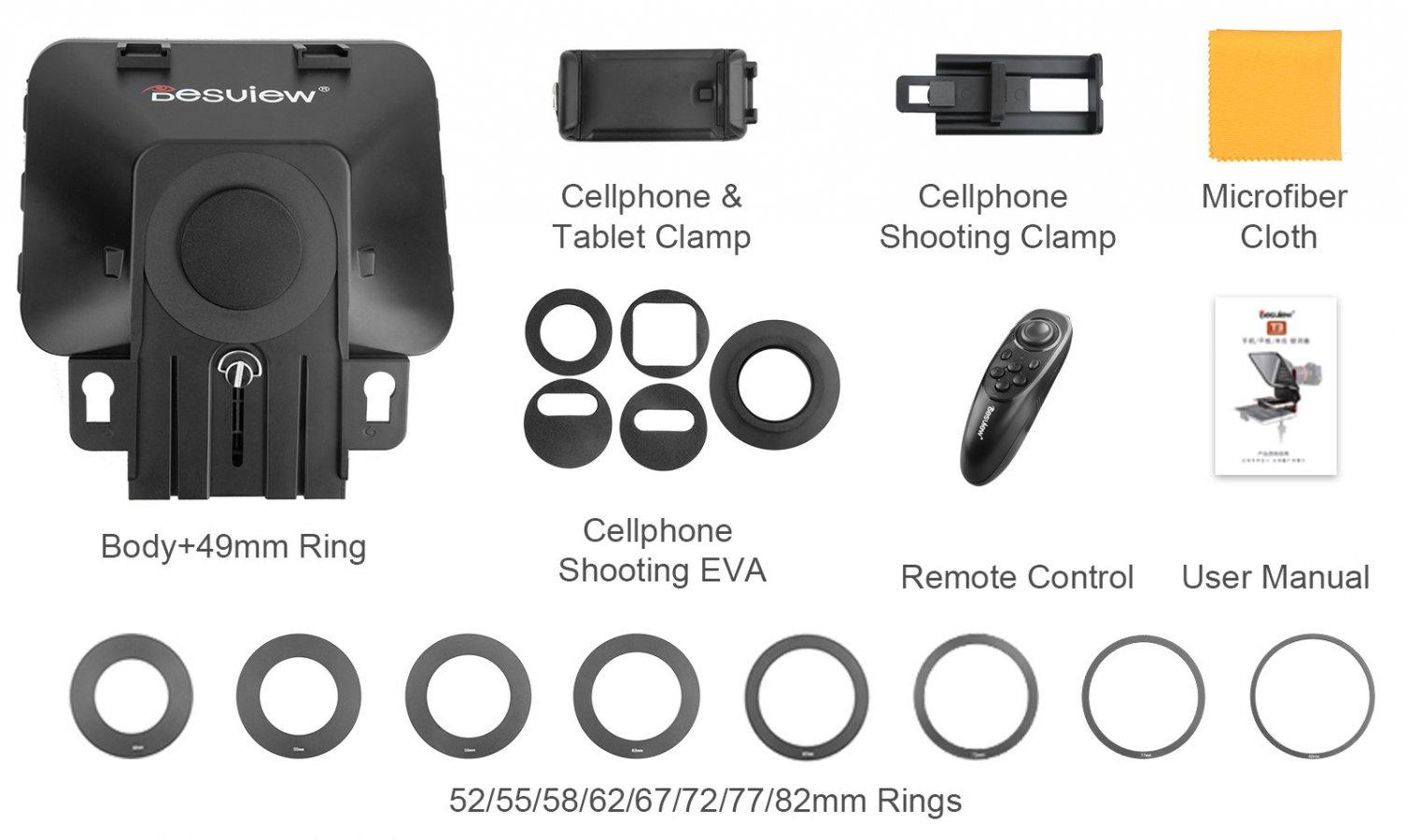 Desview T3 Teleprompter für Kamera, Tablet oder Smartphone Foto Nr. 7