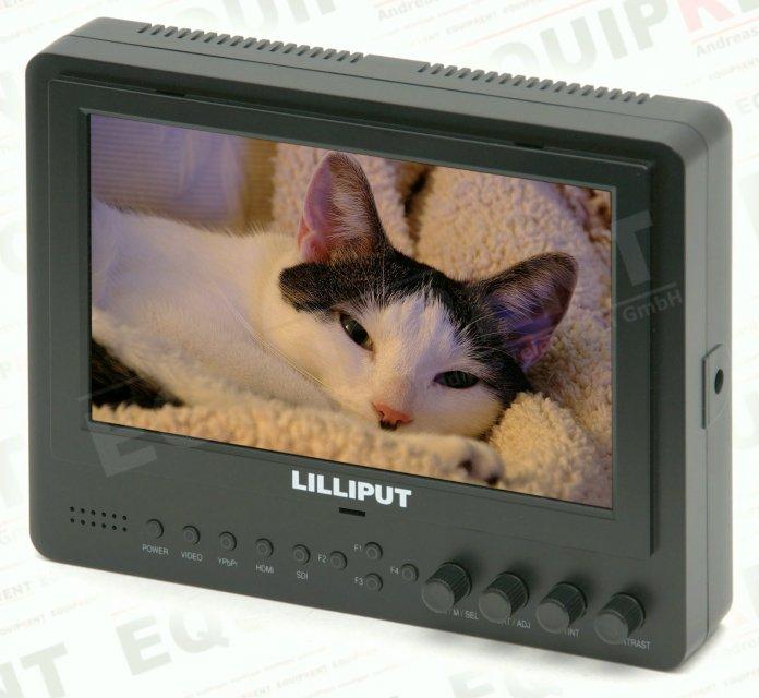 Lilliput 665GL-70NP HO/Y: 18cm/7 Zoll TFT Monitor, 1024x600, HDMI i/o.