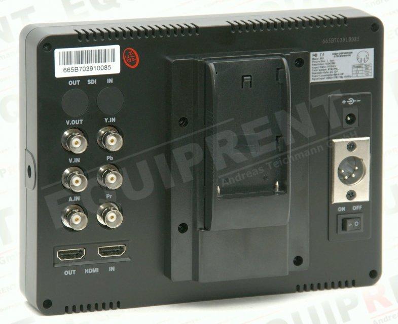 Lilliput 665GL-70NP HO/Y: 18cm/7 Zoll TFT Monitor, 1024x600, HDMI i/o Foto Nr. 1