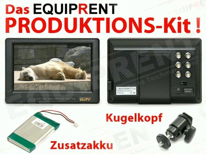 Lilliput 668GL-70N P/H/Y 18cm TFT Monitor - EQUIPRENT Produktions-Kit.