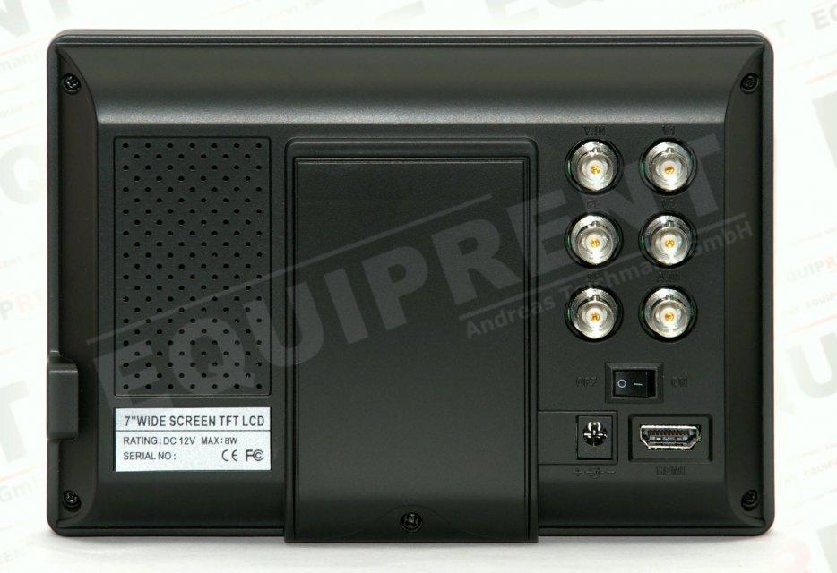 Rückseite des Lilliput 668GL-70NP Monitores.
