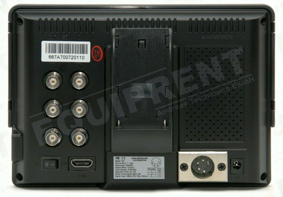 Lilliput 667GL-70NP H/Y: 18cm/7 Zoll TFT Monitor, 800x480, HDMI in Foto Nr. 1