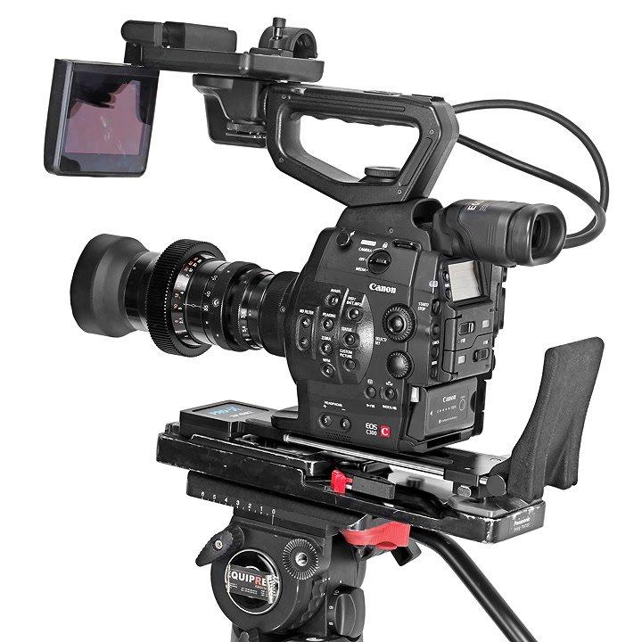 Canon C300 mit VCT-14 Stativplatte.