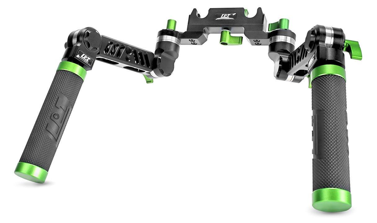 Lanparte UG-02 robuste 3D Doppel-Griffe mit Quick Release für 15mm Rods.