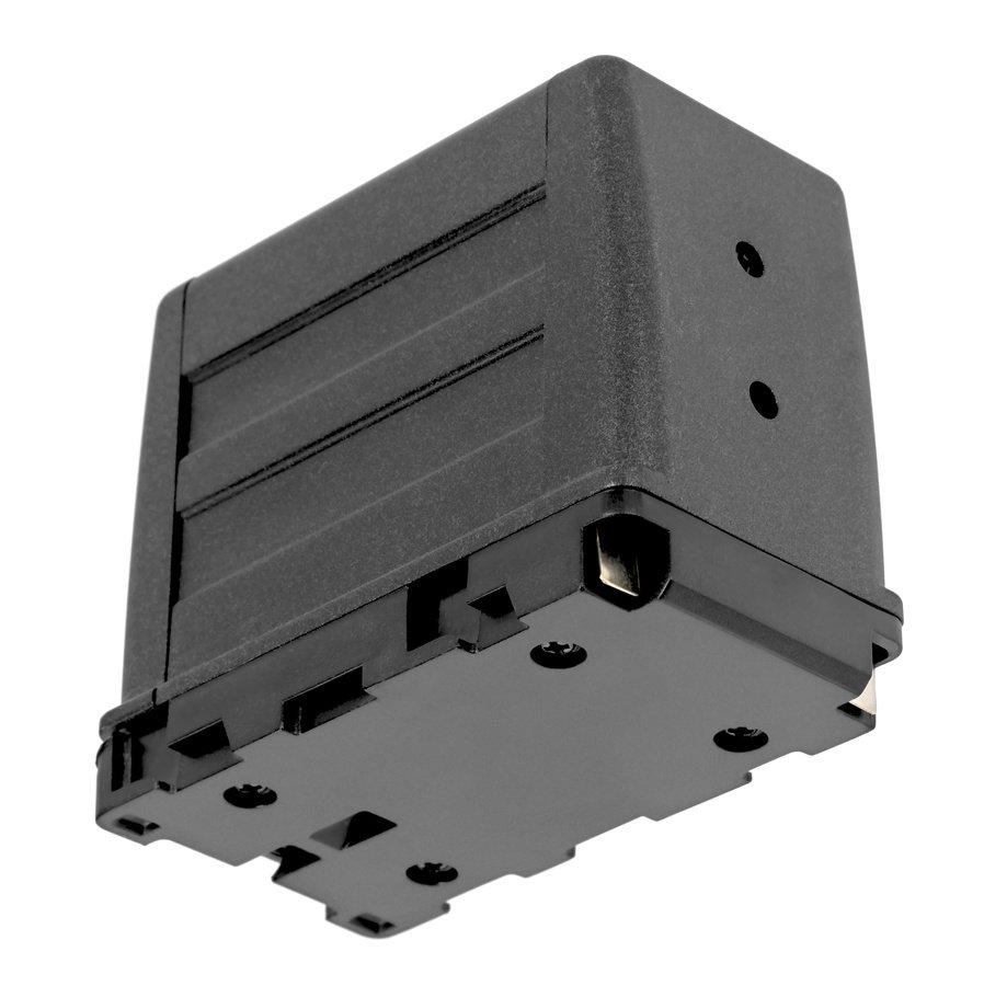 Unterseite ROKO AA/NP-F Batterieadapter.