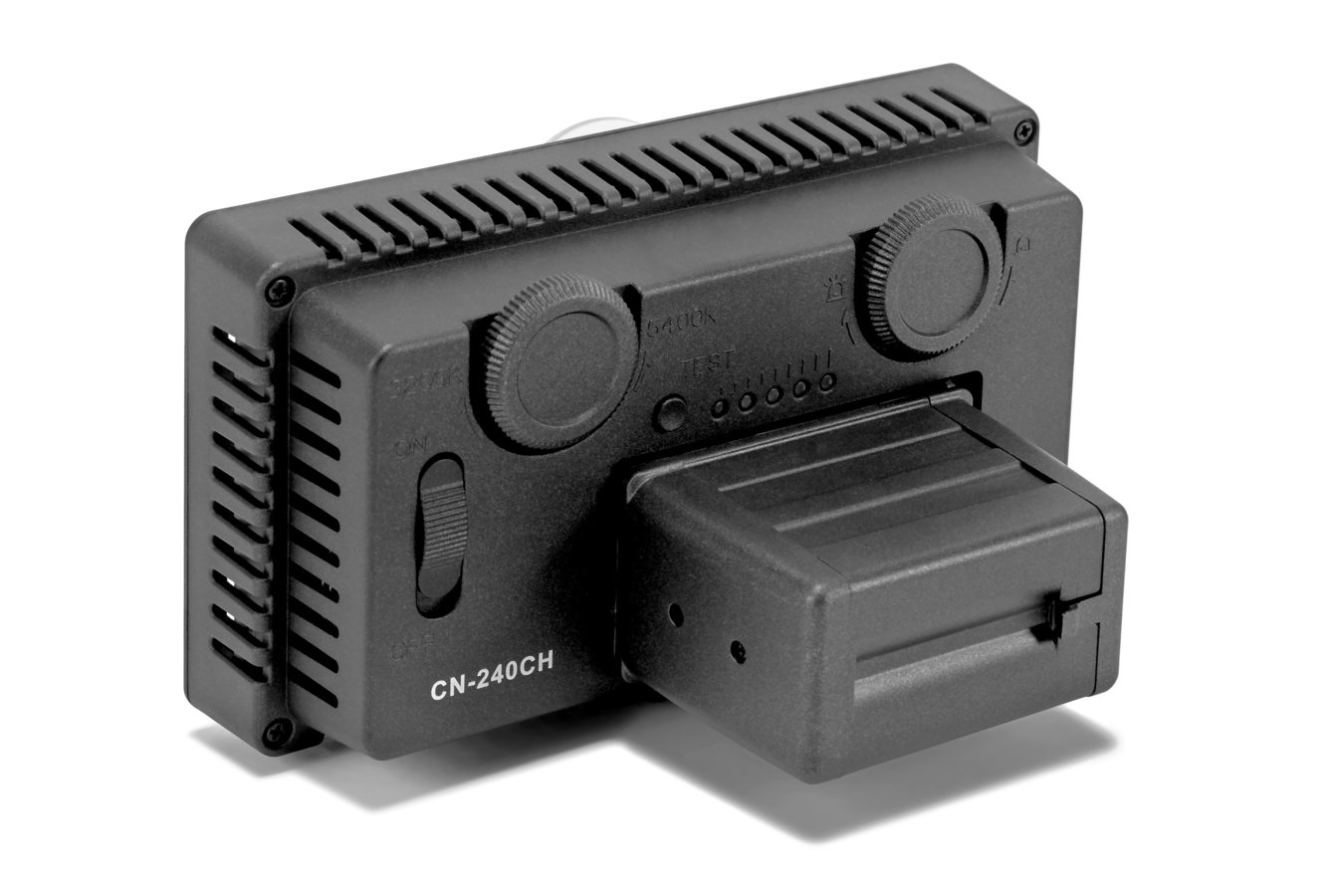 CN-240CH LED Leuchte mit Adapter für AA Batterien.