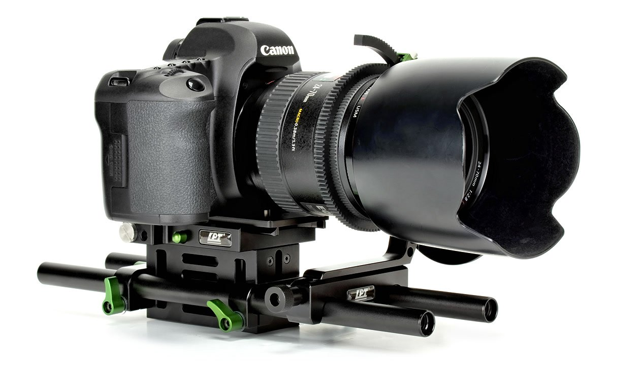 Canon 5D Mark II auf Baseplate.